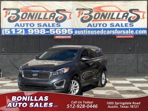 2017 Kia Sorento for sale at Bonillas Auto Sales in Austin TX
