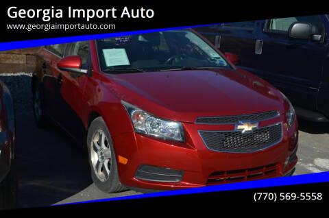 2013 Chevrolet Cruze for sale at Georgia Import Auto in Alpharetta GA