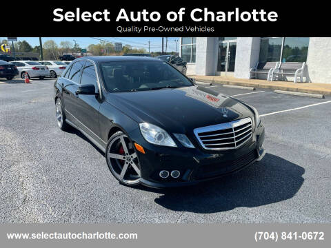2010 Mercedes-Benz E-Class for sale at Select Auto of Charlotte in Matthews NC
