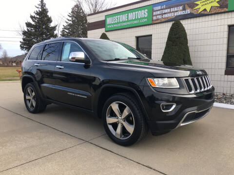 2015 Jeep Grand Cherokee for sale at MILESTONE MOTORS in Chesterfield MI