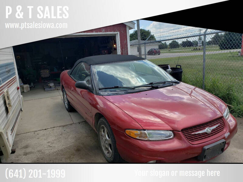 2000 Chrysler Sebring for sale at P & T SALES in Clear Lake IA