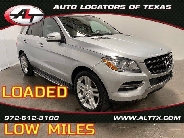 2014 Mercedes-Benz M-Class for sale at AUTO LOCATORS OF TEXAS in Plano TX