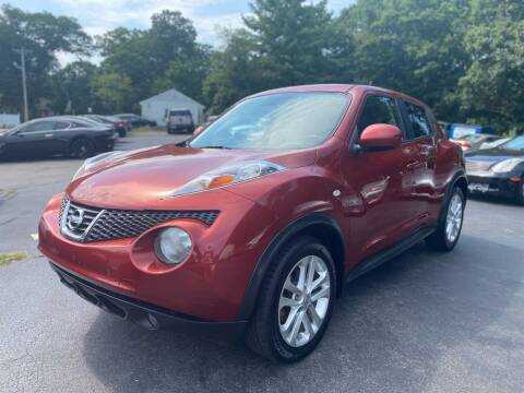 2012 Nissan JUKE for sale at SOUTH SHORE AUTO GALLERY, INC. in Abington MA