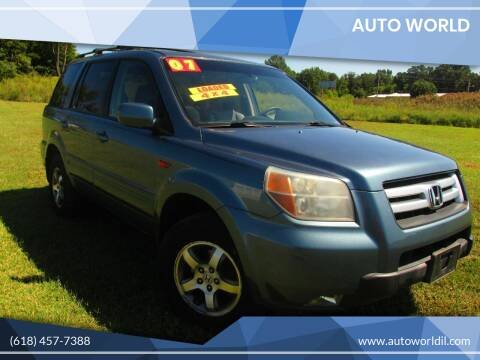 2007 Honda Pilot for sale at Auto World in Carbondale IL