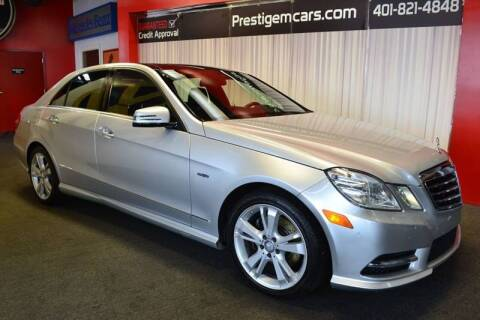 2012 Mercedes-Benz E-Class for sale at Prestige Motorcars in Warwick RI