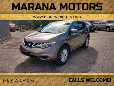 2012 Nissan Murano for sale at Marana Motors in Princeton MN