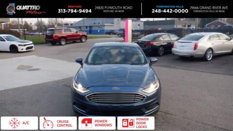2018 Ford Fusion for sale at Quattro Motors 2 - 1 in Redford MI