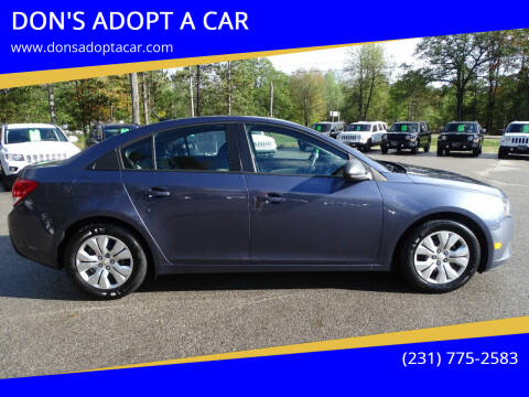 2014 Chevrolet Cruze for sale at DON'S ADOPT A CAR in Cadillac MI