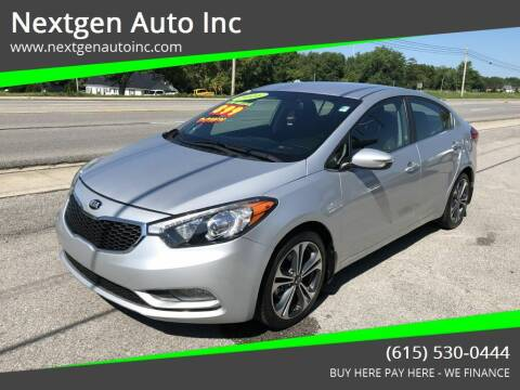 2016 Kia Forte for sale at Nextgen Auto Inc in Smithville TN