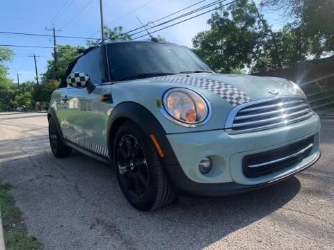 2013 MINI Convertible for sale at Progressive Auto Plex in San Antonio TX