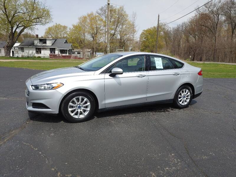 2015 Ford Fusion for sale at Depue Auto Sales Inc in Paw Paw MI
