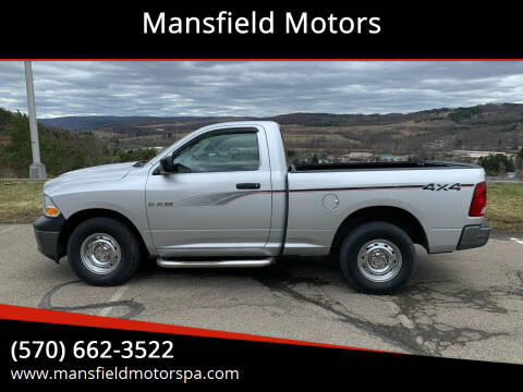 2010 Dodge Ram Pickup 1500 for sale at Mansfield Motors in Mansfield PA