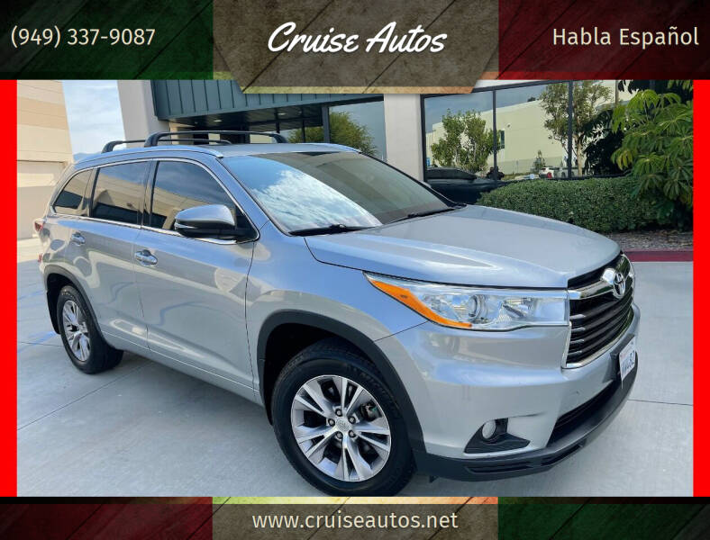 2014 Toyota Highlander for sale at Cruise Autos in Corona CA