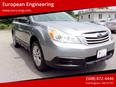 2010 Subaru Outback for sale at European Engineering in Framingham MA
