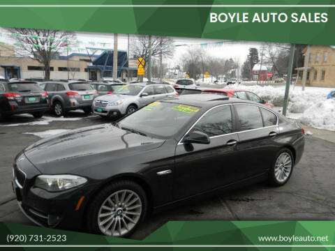 2013 BMW 5 Series for sale at Boyle Auto Sales in Appleton WI