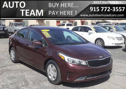2017 Kia Forte for sale at AUTO TEAM in El Paso TX