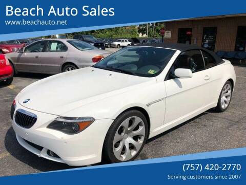2005 BMW 6 Series for sale at Beach Auto Sales in Virginia Beach VA