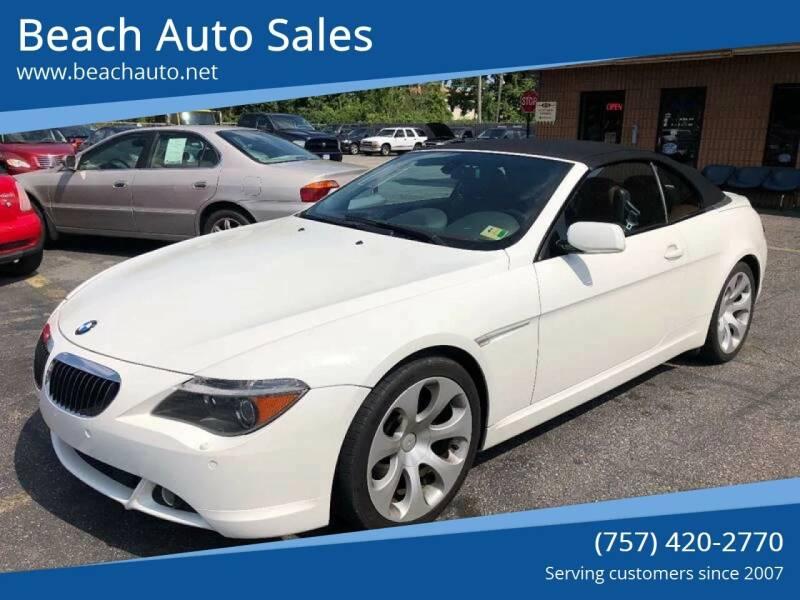2005 BMW 6 Series for sale at Beach Auto Sales in Virginia Beach VA