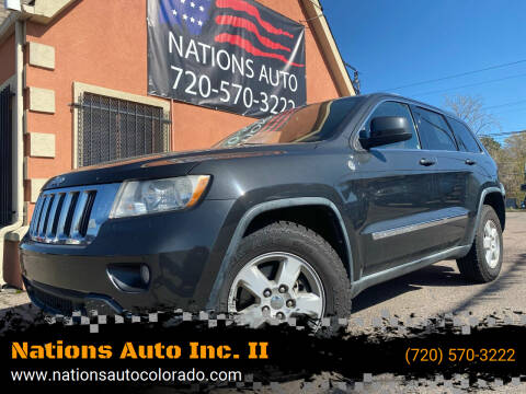 2011 Jeep Grand Cherokee for sale at Nations Auto Inc. II in Denver CO