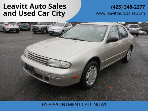 1997 Nissan Altima for sale at Leavitt Auto Sales and Used Car City in Everett WA