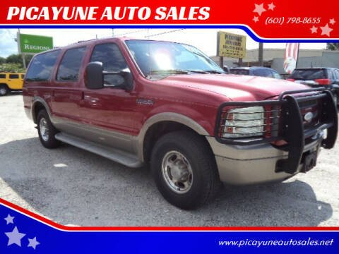 2005 Ford Excursion for sale at PICAYUNE AUTO SALES in Picayune MS