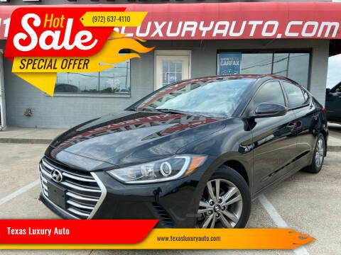 2017 Hyundai Elantra for sale at Texas Luxury Auto in Cedar Hill TX