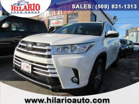 2018 Toyota Highlander for sale at Hilario's Auto Sales in Worcester MA