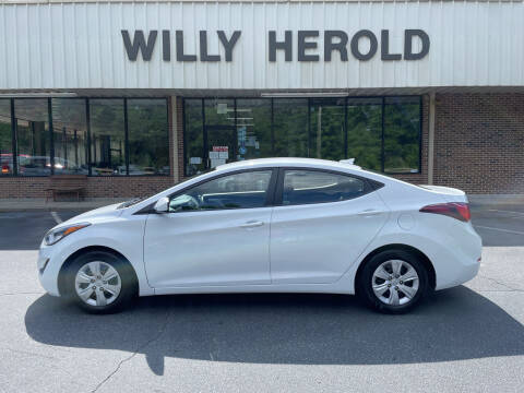 2016 Hyundai Elantra for sale at Willy Herold Automotive in Columbus GA