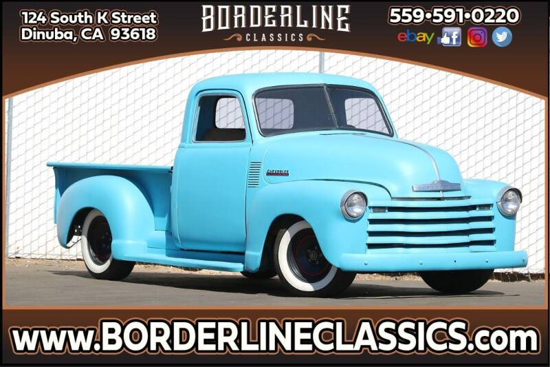 1951 Chevrolet C/K 1500 Series for sale at Borderline Classics in Dinuba CA
