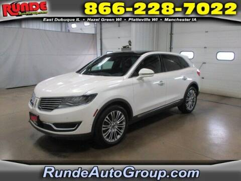 2016 Lincoln MKX for sale at Runde PreDriven in Hazel Green WI