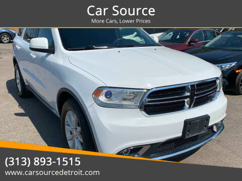 2015 Dodge Durango for sale at Car Source in Detroit MI