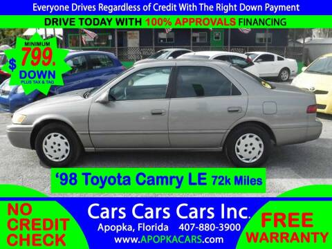 1998 Toyota Camry for sale at CARS CARS CARS INC in Apopka FL