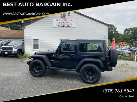 2015 Jeep Wrangler for sale at BEST AUTO BARGAIN inc. in Lowell MA
