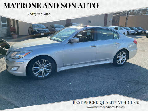 2012 Hyundai Genesis for sale at Matrone and Son Auto in Tallman NY