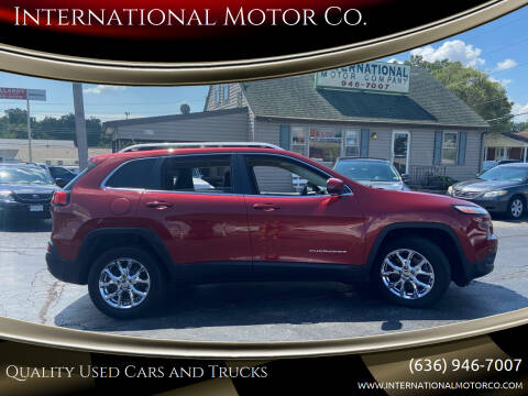 2014 Jeep Cherokee for sale at International Motor Co. in Saint Charles MO