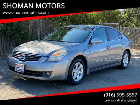 2009 Nissan Altima for sale at SHOMAN MOTORS in Davis CA