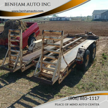 1987 HMDE TANDEM AXLE for sale at BENHAM AUTO INC - Benham Auto Trailers in Lubbock TX