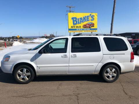 2008 Chevrolet Uplander for sale at Blakes Auto Sales in Rice Lake WI