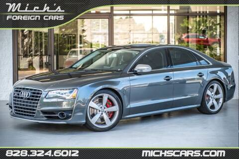 2014 Audi S8 for sale at Mich's Foreign Cars in Hickory NC