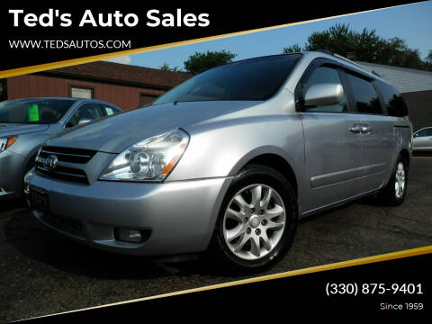 2007 Kia Sedona for sale at Ted's Auto Sales in Louisville OH