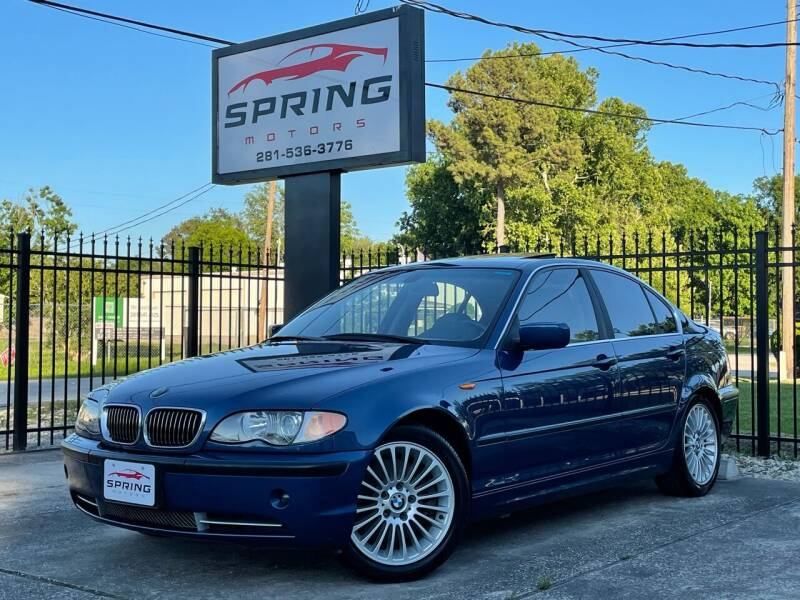 2002 BMW 3 Series for sale at Spring Motors in Spring TX