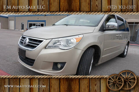 2009 Volkswagen Routan for sale at F.M Auto Sale LLC in Dallas TX