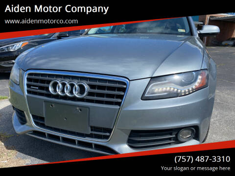 2010 Audi A4 for sale at Aiden Motor Company in Portsmouth VA