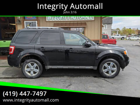 2012 Ford Escape for sale at Integrity Automall in Tiffin OH