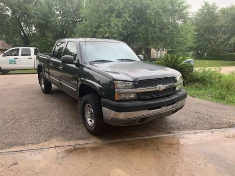 2003 Chevrolet Silverado 2500HD for sale at CARWIN MOTORS in Katy TX