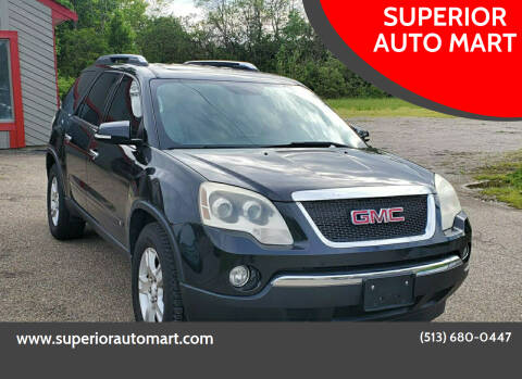 GMC Acadia for sale at SUPERIOR AUTO MART in Amelia OH