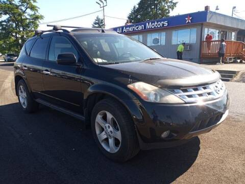 2003 Nissan Murano for sale at All American Motors in Tacoma WA