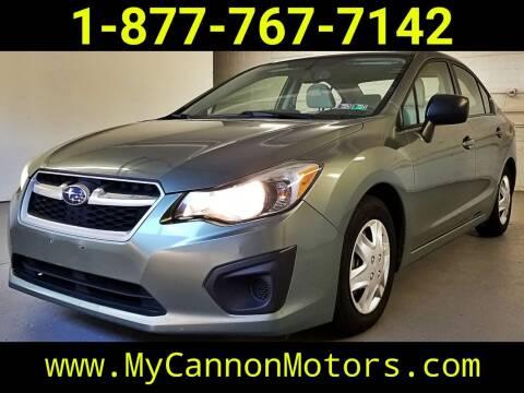 2014 Subaru Impreza for sale at Cannon Motors in Silverdale PA