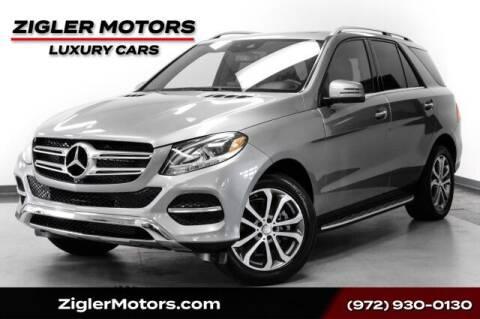 2016 Mercedes-Benz GLE for sale at Zigler Motors in Addison TX