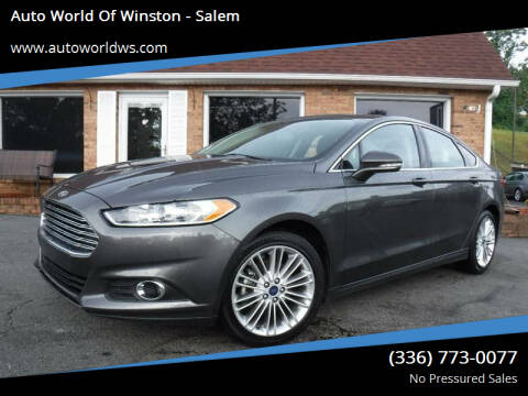 2016 Ford Fusion for sale at Auto World Of Winston - Salem in Winston Salem NC